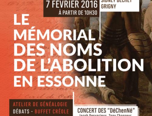 Le mémorial des noms de l'abolition en Essonne