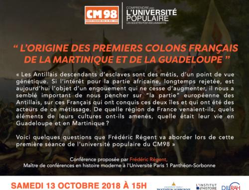 L'origine des premiers colons français de la Martinique et de la Guadeloupe !