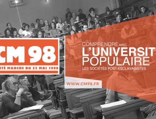 Conférence de l'université populaire du CM98 samedi 29 février 2020 à 15h Université Panthéon – Sorbonne