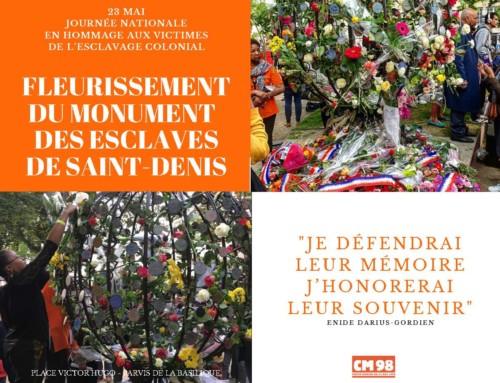 Planning – Fleurissement monument aux esclaves de St-Denis